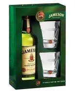 Виски Джемесон 0.7 л подарочная упаковка + 2 бокала