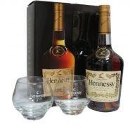 Коньяк Хеннесси VS 0.7 + 2 стакана